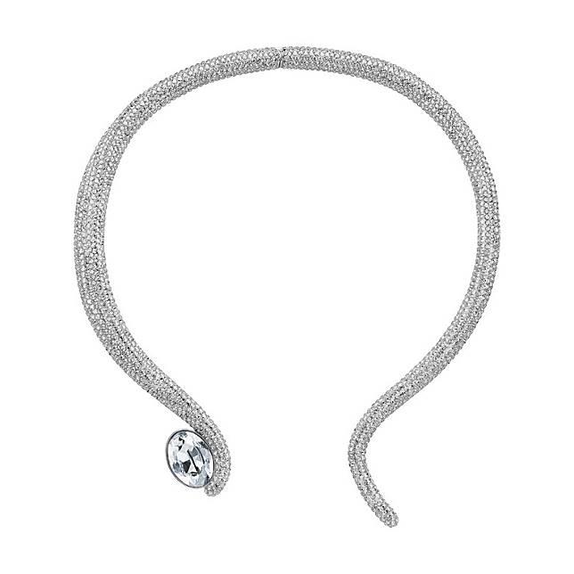 Atelier Swarovski Tigris銀色水晶頸鏈(互聯網)