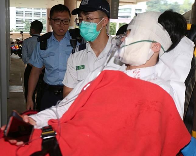 當日遇襲同學面部受傷送院。資料圖片