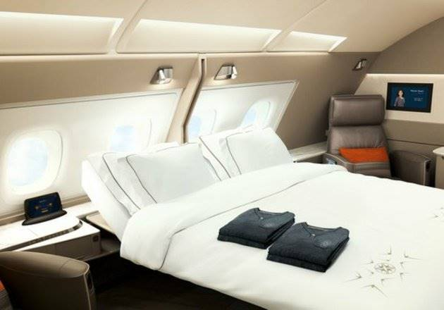 Double bed di Singapore Airlines (Foto: Singapore Airlines)
