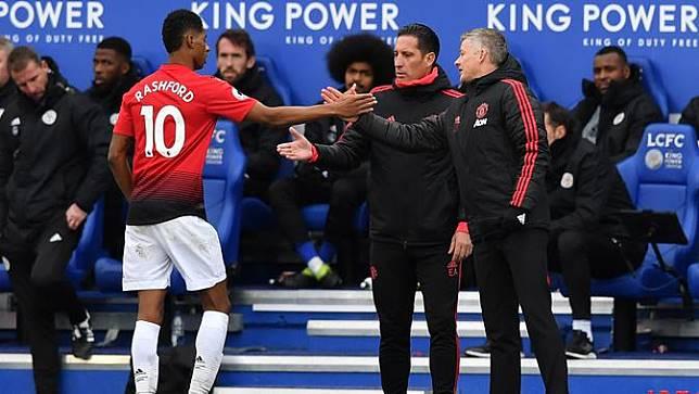 Gol Tunggal Rashford Bawa MU Taklukkan Leicester City