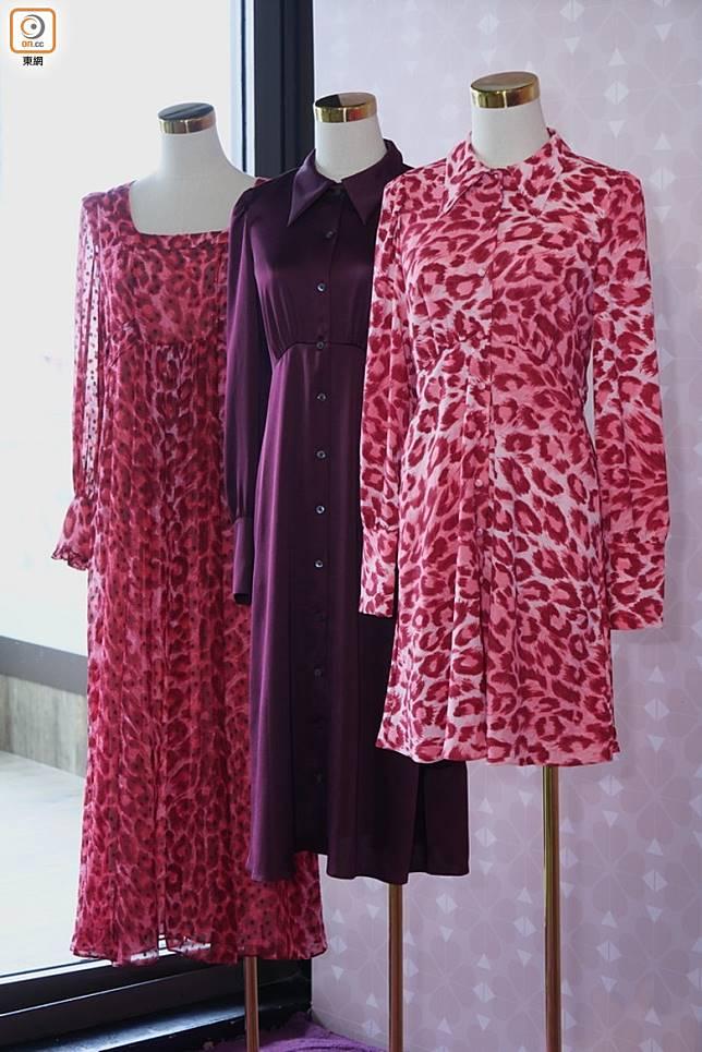 服裝系列以豹紋作主打,設計帶點懷舊色彩。 (方偉堅攝)