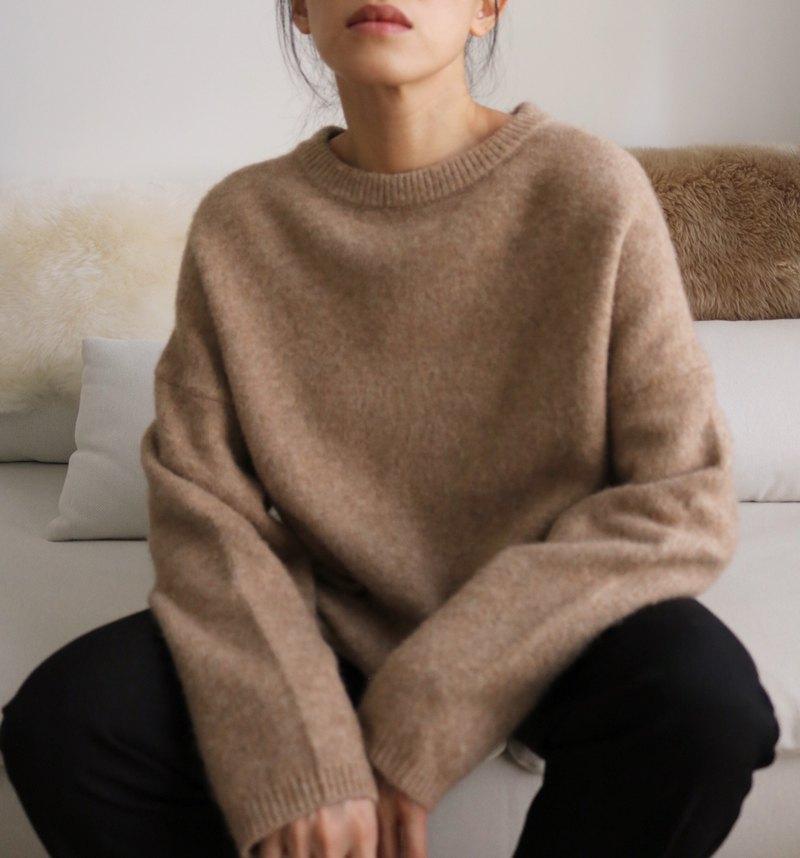Millie Sweater 限量Cashmere落肩輕量毛衣