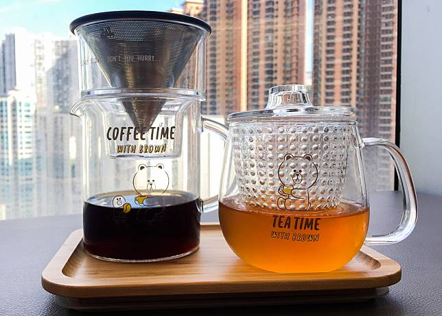 Tea time有熊大陪住嘆茶,心情都會靚啲。