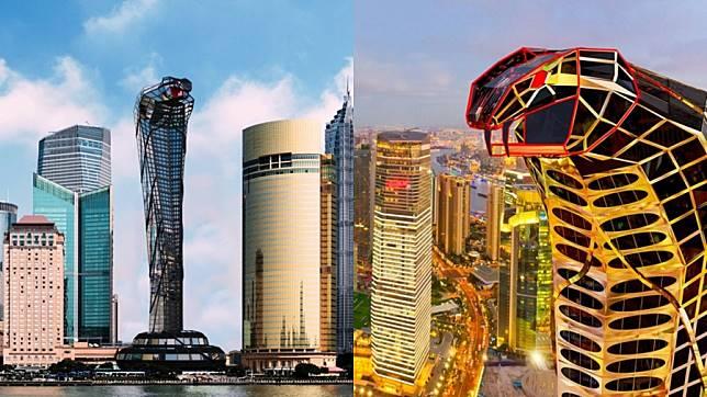 ตึกเจ้าแม่นาคี ที่แท้ทรู จีนสร้าง ตึกระฟ้ารูปร่างเหมือนงูเห่า แค่มองก็สะพรึงแล้ว