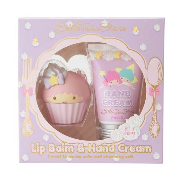 【震撼精品百貨】Little Twin Stars KiKi&LaLa 雙子星小天使~雙子星護唇膏&護手霜組#83984