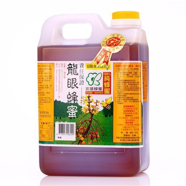 宏基 龍眼蜂蜜(家庭號) 1800g/桶
