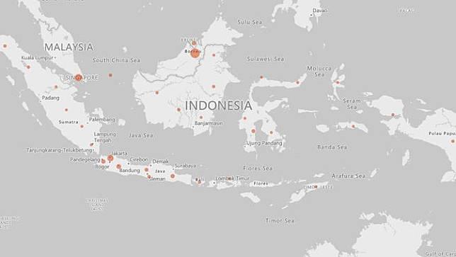 Sebaran Virus Corona di Indonesia