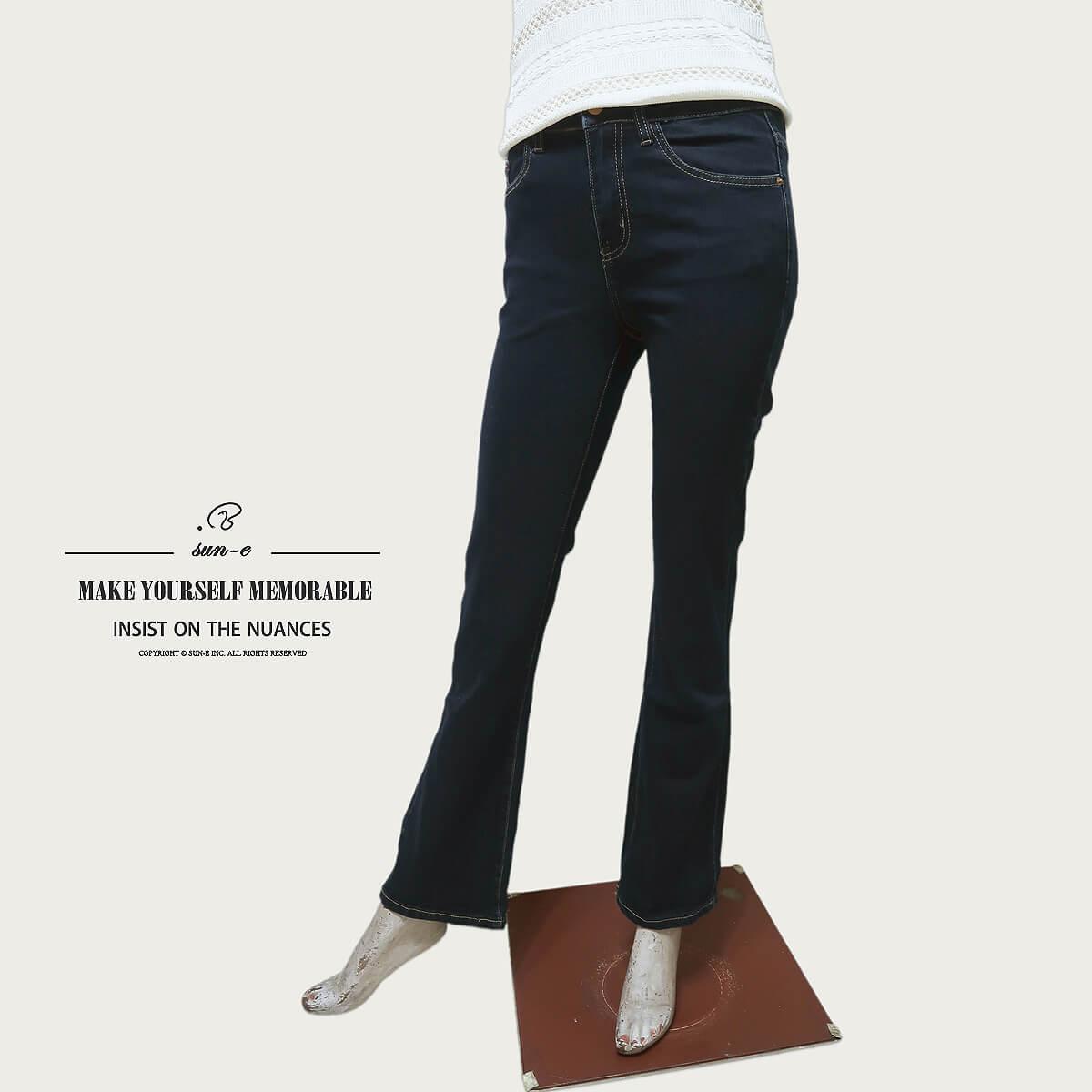 復古洗丹寧喇叭褲,超輕量伸縮有彈性,褲身原色處理保留牛仔原色, 版型修飾腿部線條更顯修長!!