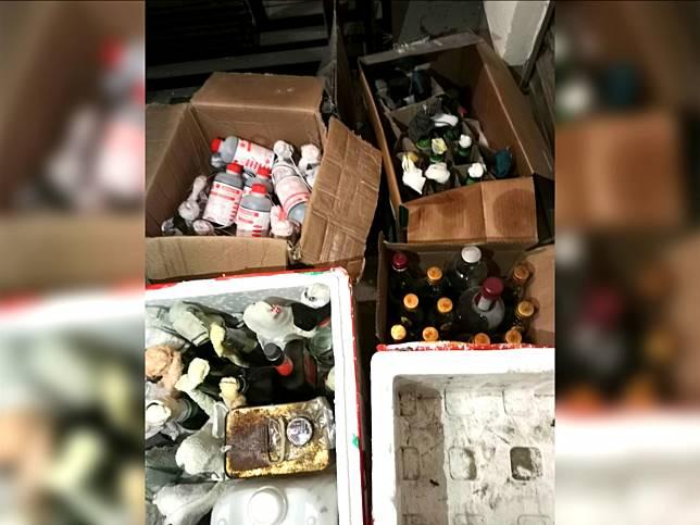 城市大學表示昨晚在校園內發現幾箱懷疑汽油彈。(城市大學提供)