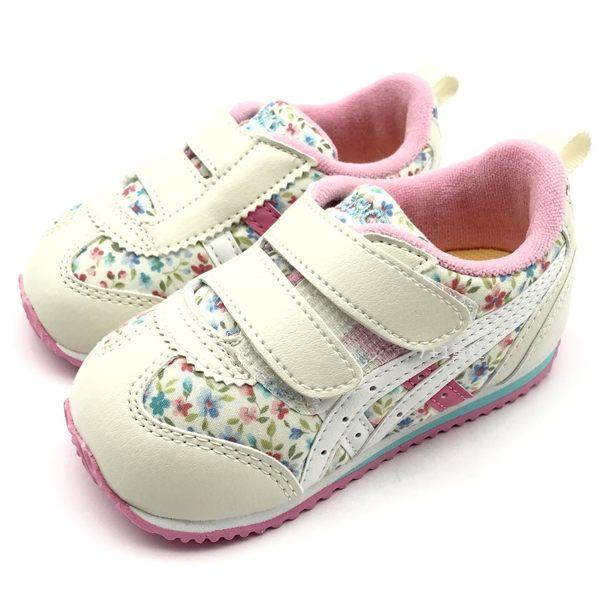 《7+1童鞋》小童 ASICS SUKU 亞瑟士 寶寶鞋 輕量 機能鞋 碎花 5183 白色