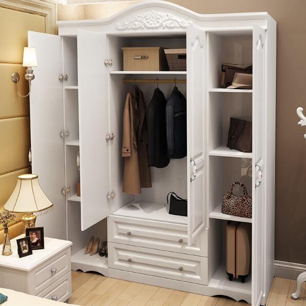 限定款衣櫃 衣櫥 衣物收納簡約現代經濟型免運木質臥室白色韓歐式整體組裝大衣櫥jj