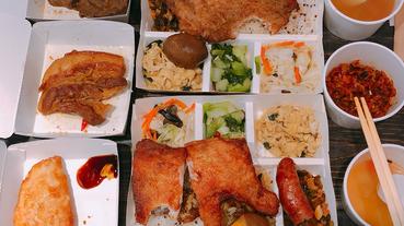 米樂拾穗雞腿便當專賣店  東區忠孝復興SOGO平價美食  東區便當推薦  現炸雞腿 古早味焢肉 健康紅藜麥飯