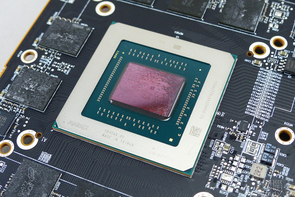 Navi 10 顯示繪圖晶片。