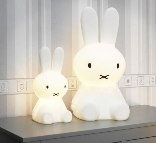 「大小米菲兔 好有伴」Miffy米菲兔坐姿擁抱燈 【80cm+50cm高】 可愛療癒造型LED夜燈【Limiteria】