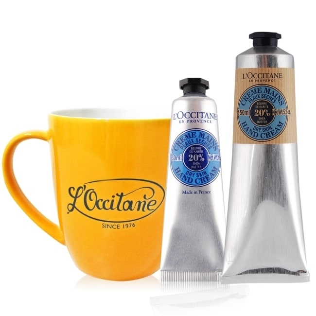 歐舒丹 乳油木護手霜(150ml)買一送30ML+品牌復古馬克杯