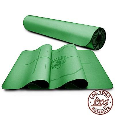 LOG YOGA 樂格 PU環保天然橡膠 專業款瑜珈墊 -綠色 (厚度5mm)