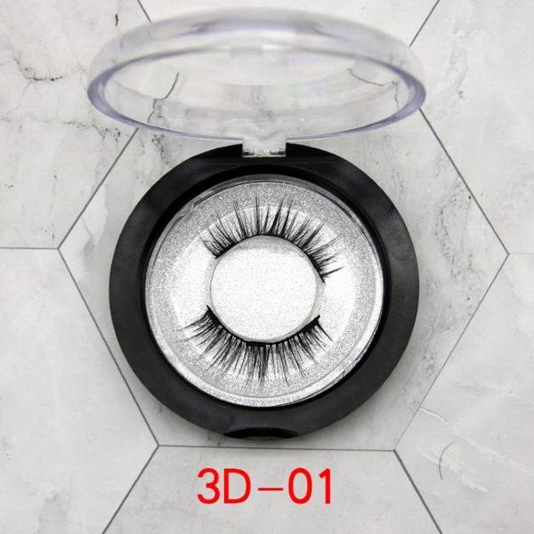 假睫毛 3D磁鐵假睫毛 自然仿真可重復使用三磁鐵加強固定純手工制作【快速出貨八折搶購】