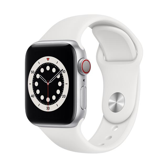 ● GPS + 行動網路★白色運動型錶帶• GPS + 行動網路錶款讓你無需手機就能打電話、傳簡訊,以及取得路線指引• 使用全新的感測器與 app 測量你的血氧濃度• 手腕放下時,隨顯 Retina