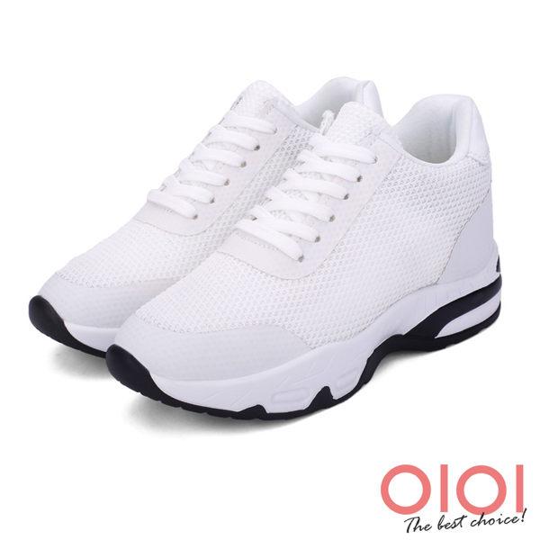 涼鞋 老爹鞋 復古翻玩綁帶內增高老爹鞋(白)*0101shoes【18-708w】【現貨】