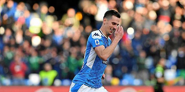 Striker Napoli Arkadiusz Milik. (c) AP Photo