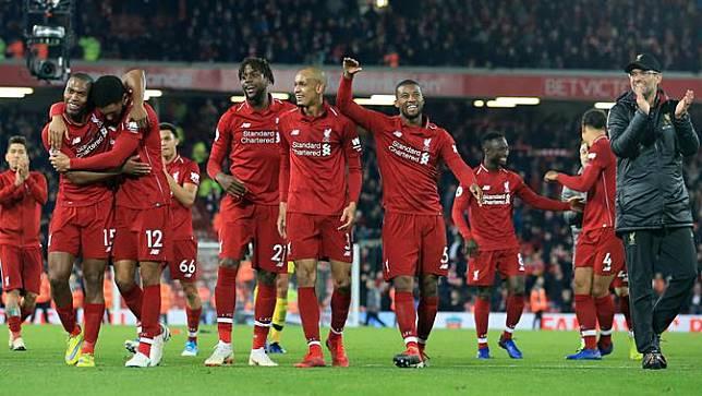 Kegembiraan Jurgen Klopp Usai Liverpool Taklukkan Everton