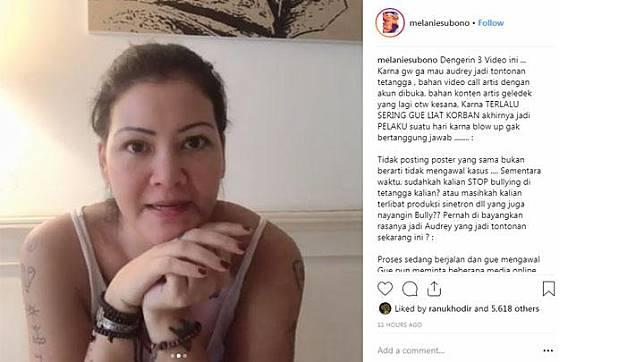 Melanie Subono Sindir Artis yang Pamer Peduli Kasus Bullying