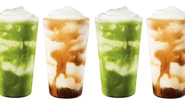 從日本《星巴克》紅回台灣的2款星冰樂「雙濃粹義式咖啡星冰樂」和「醇濃抹茶奶霜星冰樂」8/14台灣也能喝的到!