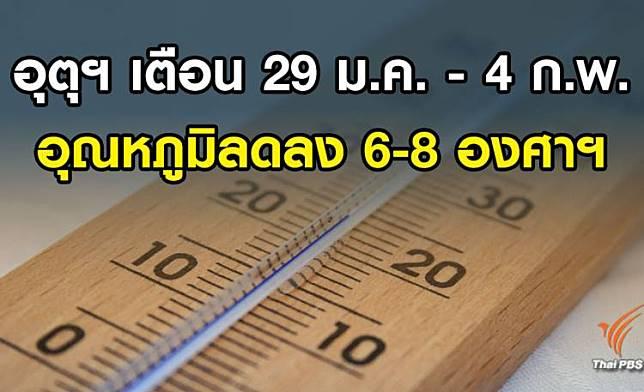 อีสาน –เหนือ – กทม. อากาศหนาวเย็น 29 ม.ค.- 4 ก.พ. ภาคใต้มีฝนตก
