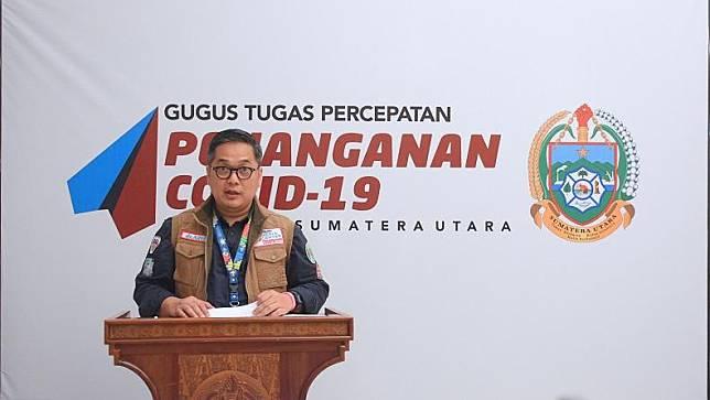 Juru Bicara Satgas Covid-19 Provinsi Sumut Aris Yudhariansyah. (Foto: Humas Pemprov Sumut)
