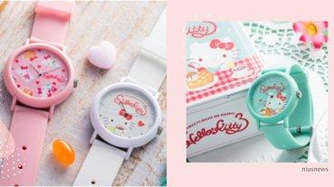 真的飄草莓香氣!日本「Hello Kitty聯名香氛錶」,凱蒂貓跑上錶面喝下午茶
