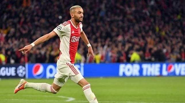 Winger Ajax Amsterdam, Hakim Ziyech. [EMMANUEL DUNAND / AFP]