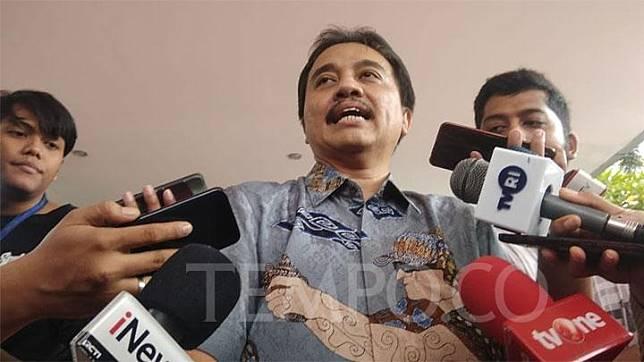 Politikus Partai Demokrat, Roy Suryo ditemui awak media di Polda Metro Jaya pada Jumat, 24 Januari 2020. Tempo/M Yusuf Manurung