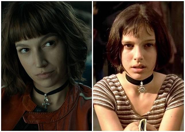 而呢個Look係參照咗妮妲莉寶文(Natalie Portman,右)喺《這個殺手不太冷》嘅造型!
