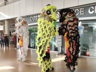 Bandara Sultan Thaha Jambi Meriahkan Imlek dengan Barongsai