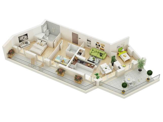 Lagi Merancang Rumah Ini 7 Denah Rumah Minimalis 3 Kamar Untukmu Dekoruma Com Line Today