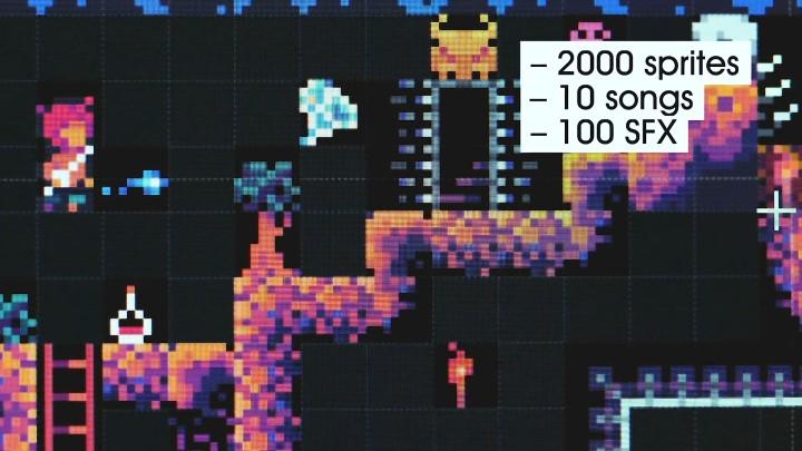 玩家可以利用現成的2,000組圖像、100種音效、10首音樂資源。