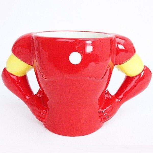X射線【C247876】Marvel 復仇者聯盟 造型馬克杯340ml-鋼鐵人 IronMan ,水杯/馬克杯/杯瓶/茶具/生活用品/玻璃杯/不鏽鋼杯