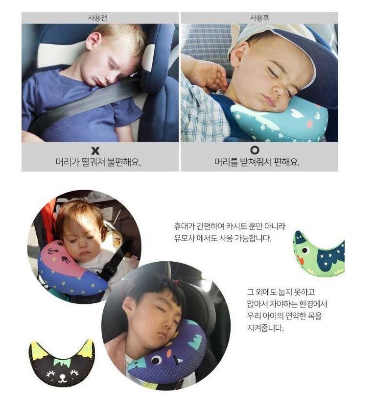 讓寶貝頭部安穩的靠著! *超級方便的半月頸枕,能夠黏貼在推車上、安全座椅上,固定不亂跑! * 每個有寶寶的媽咪必備的兒童靠枕,枕心為PP棉,舒適安全,保證寶貝們睡得安穩噢! 品名:兒童安全帶半月頸枕