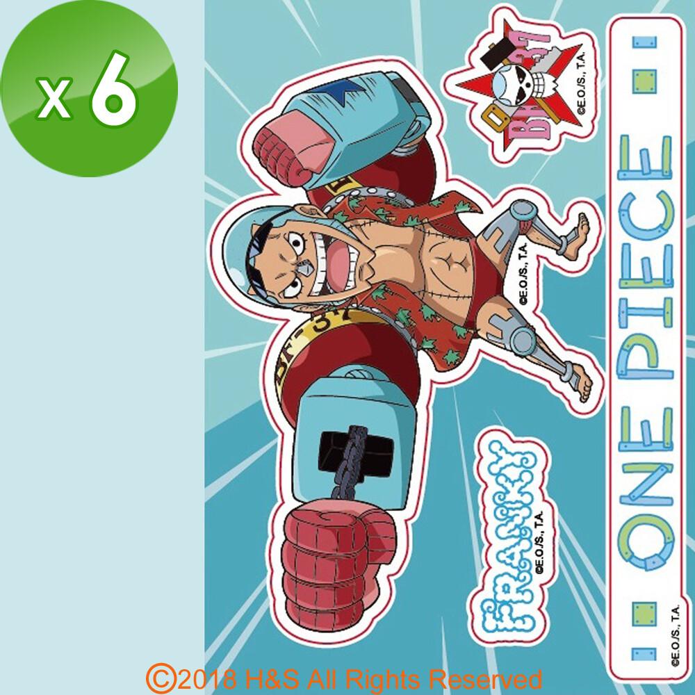 【航海王】佛朗基開關貼(8x12cm)6入組 航海王(ONE PIECE)在台灣又稱海賊王,是一部連載中的日本少年漫畫作品,主要描述主角蒙其‧D‧魯夫為了要實現與「紅髮」傑克的約定而出海,在遙遠的路途