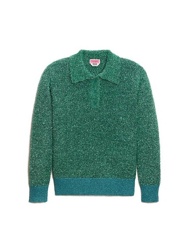 KATE SPADE 綠色銀線針織Polo(互聯網)
