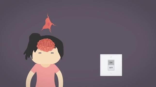 Saraf di otak kita ada yang bertugas seperti tombol lampu yang bisa nyala, atau sebaliknya. Nah, karena sistem kaya gini bikin kita bisa ngerasain hypnic jerk