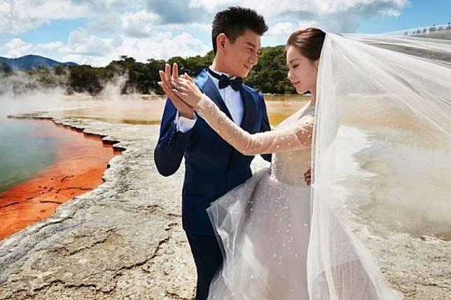 ▲吳奇隆、劉詩詩澳洲婚紗照。(圖/經紀人提供,2016.03.09)