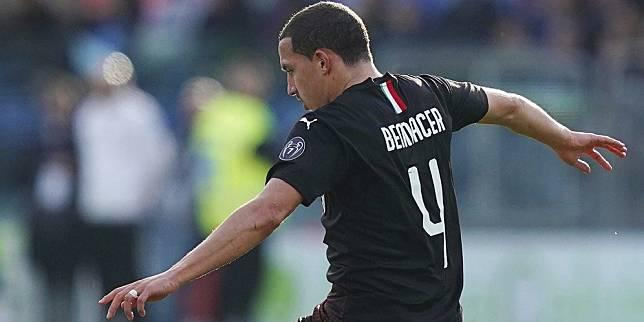Gelandang AC Milan, Ismael Bennacer (c) AP Photo