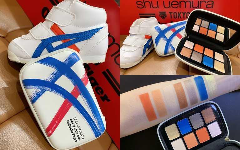 植村秀*Onitsuka Tiger beyond the limit eye palette眼彩盤(白)/2,500元 將Onitsuka Tiger最經典的白藍紅線條鞋款,運用為眼彩盤的包裝靈感。(圖/吳雅鈴攝影)