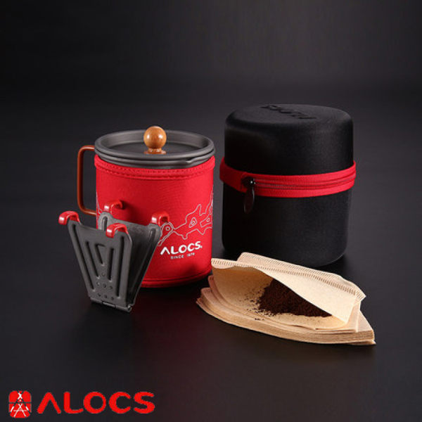 【ALOCS 愛路客 咖啡杯套裝組】CW-K13/戶外隨身手沖咖啡壺/便攜式咖啡杯★滿額送