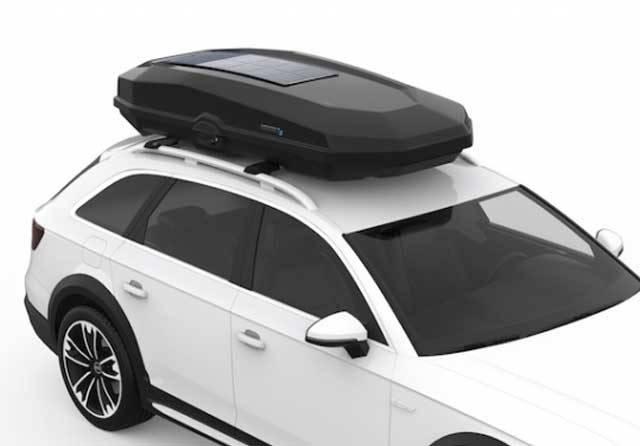 Roofbox dengan Surya Panel Cocok Bagi Penyuka Touring