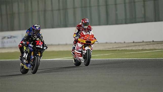 Pembalap tim Federal Oil Gresini, Fabio Di Giannantonio (kanan). gresiniracing.com