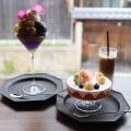桃といちごのパルフェ - 実際訪問したユーザーが直接撮影して投稿した金園町カフェDORUMIRU yasakanotouの写真のメニュー情報
