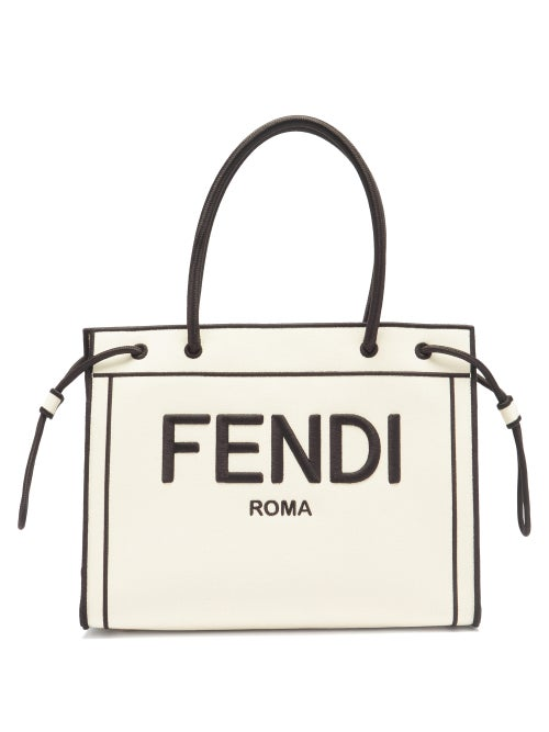 Fendi - Fendi reimagines the Roma Shopper bag in a striking monochrome palette. Crafted in Italy, th