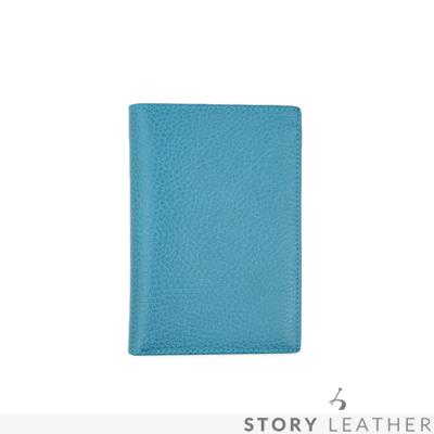 STORYLEATHER Style 90833 牛皮護照夾 荔枝紋土耳其藍